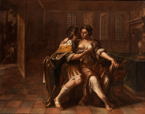 David begehrt Batseba. Maler des 17. Jahrhunderts. Öl auf Leinwand. 141 x 169 cm. Via Wikipedia Commons. Image is public domain.